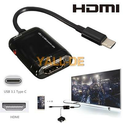 Neu USB-C Type C to HDMI Adapter USB 3.1 Cable For MHL Android Phone Tablet DE