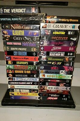 Rare OOP assorted VHS Movies! Lot of 37! Jackie Chan, chuck Norris, dead again