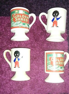 **rare** Set Of 4 Robertsons Golden Shred Marmalade Egg Cups Advertising Doll
