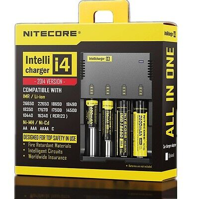 New NITECORE i4 Battery Charger Digicharger for AA 18650 18500 14500 18350 18700