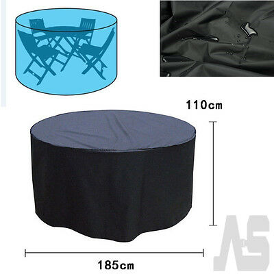 Outdoor Patio Round Table Cover Waterproof Furniture Cover UK
