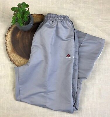 Adidas Youth Side Snap Pants Gray Sz Medium Maroon Accent Tear Away