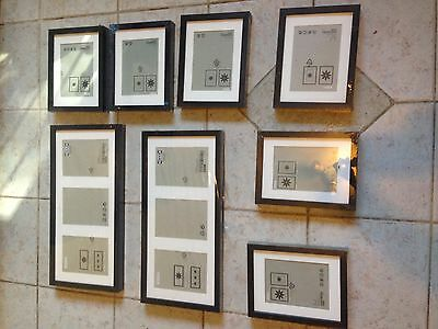 Lot Of 8 New Ikea Black Modern Picture / Photo Frames