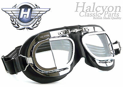 NEW Halcyon Leather Motorcycle,Aviator,Flying Goggles