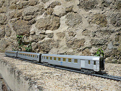 Jouef HO 5580 5593 SNCF voitures A8 DEV  Inox coaches