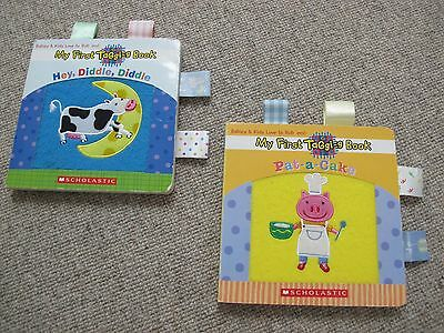Taggies 'My First Taggies book' x2 Hey Diddle Diddle & Pat a Cake Good condition