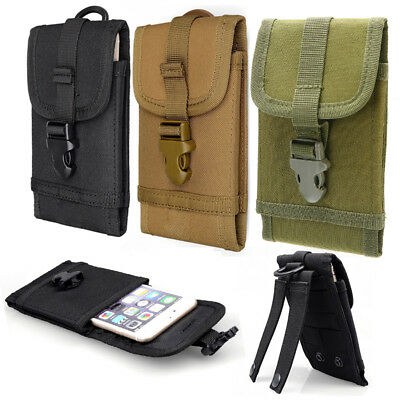 Tactical Molle Bag Mobile Phone Cover Case Belt Loop Hook Pouch Holster 5.5 inch