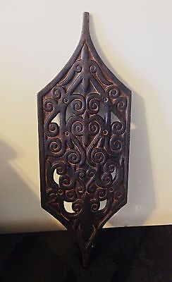 African vintage hand carved shield