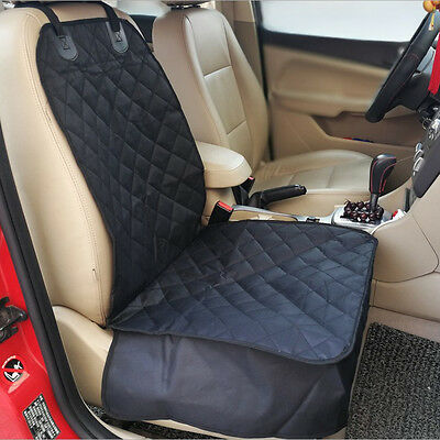 Waterproof Cat Dog Pet Car Front Seat Cover Basket Protector Mat Blanket Black