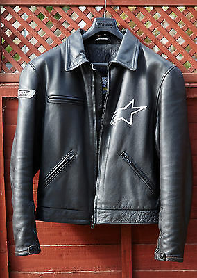 Alpinestars Leather Retro Style motorcycle jacket not Dainese