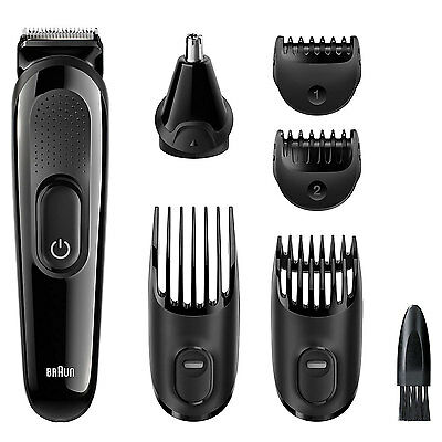 Braun Styling Multi-Grooming Shaving Hair Removal Kit MGK3020 6 in 1 For Men New