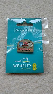 Warrington v Hull FC Rugby Challenge Cup Final 2016 Wembley Stadium Issue Badge
