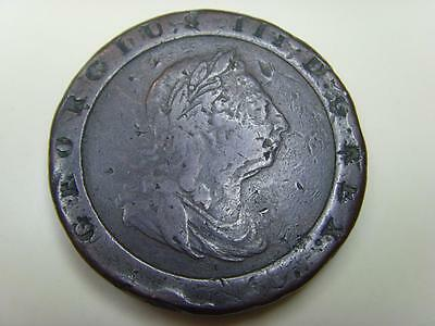 1797 CARTWHEEL TWOPENCE 2d KING GEORGE III BRITISH COIN GREAT BRITAIN