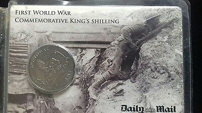 First WW commemorative King's shilling . Daily Mail