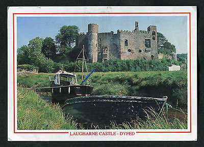 Posted 2005: View of Laugharne Castle, Dyfed, Wales