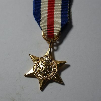 Miniature WW2 FRANCE AND GERMANY STAR MEDAL