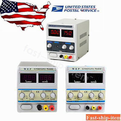60V/3A/5A 15V/1A WEP Lab DC Power Supply Precision Variable Bench Power Supply
