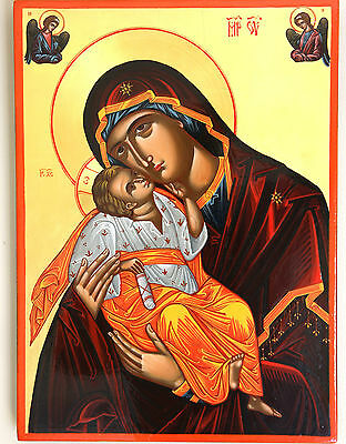 Mother of God (sweet kissing) - hand painted icon