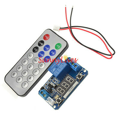 Infrared Remote Control 12V Timer Delay Relay LED Tube Display Module F Arduino