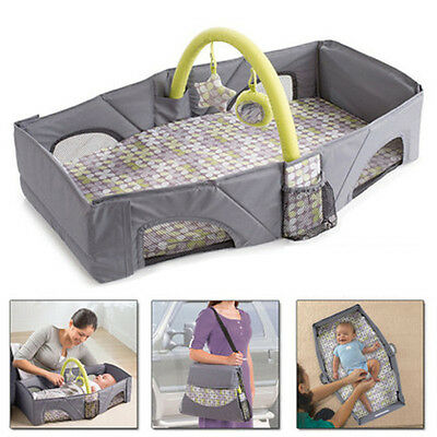 Summer Fold and Go Baby Infant Portable Travel Bassinet Cot Bed Comfortable G85E