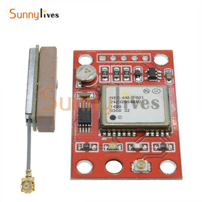 RS232 TTL GYNEO6MV2 GPS Module NEO-6M GY-NEO6MV2 Board with Antenna for Arduino