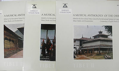 LP A Musical Anthology of the Orient - Tibet I 1/2 & 3, UNESCO Collection,Foc