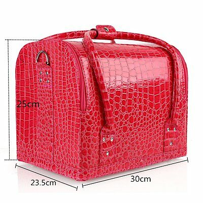 Large Make up Case Cosmetic Storage Bag Box Vanity Cases Nail Tech Artist Bags