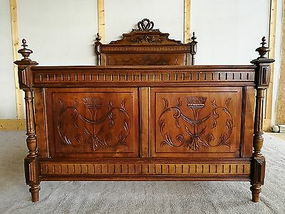 Pretty Antique French Double Bed