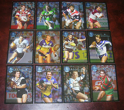 1995 WINFIELD CUP TRIBUTE DALLY M DISTINCTIONS SET (12) Rugby League Cards