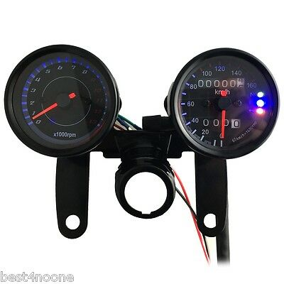 B733 Z 13000 Rpm LED Digital Signal Motorcycle Speedometer Odometer Tachometer