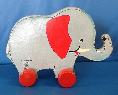 Vintage Fisher Price Elephant Toy