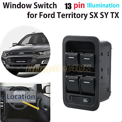 Master Power Window Switch for Ford Territory SX SY TX Illuminated 12 Pin Black