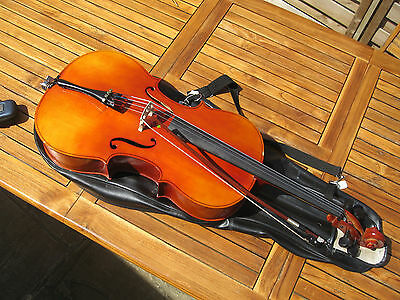Cello 1/2 size Maurice Debourde circa 1995 with case and bow