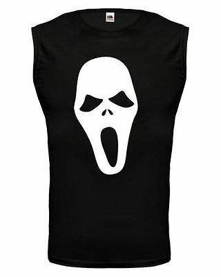 Unisex Muskelshirt ärmellos Tank Top Scream-Mask Maske Horror Film Gespenst
