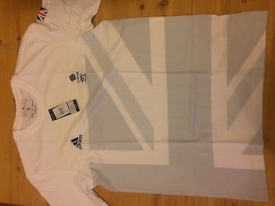 Adidas Team GB London 2012 Official Male Tee W55409 Chest Size 40/42
