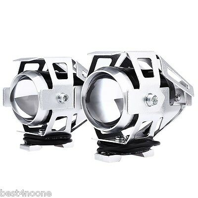 2pcs 125W 12V 3000LM U5 LED Transform Spotlight Motorcycle Headlight White