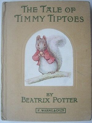 The Tale Of Timmy Tiptoes by Beatrix Potter (F. Warne 1930's Edition)