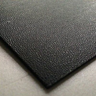 3mm Black Pinseal ABS Sheet 7 SIZES TO CHOOSE Acrylonitrile Butadiene Styrene