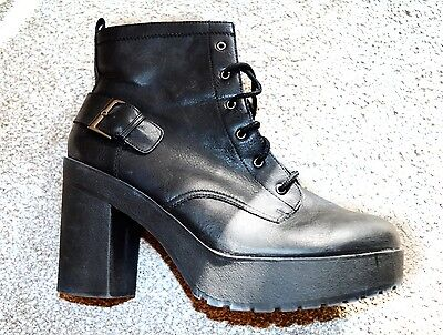 Ladies NEW LOOK lace up Military ankle boots, size 9, BRAND NEW