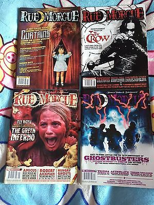 Rue Morgue Horror Magazine Job Lot - 4 Issues #146, #147, #148, #151