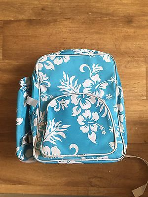 TWO PERSON BLUE FLORAL PICNIC/CAMPING BACKPACK SET by SCRIBBLE