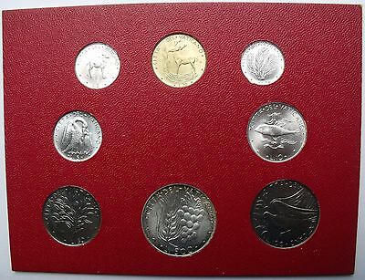 VATICAN CITY 7 ANIMAL COINS SET 1 - 500 LIRE SILVER 1975 ANIMALS aUNC