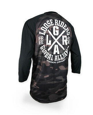 Loose Riders Herren FREERIDE CAMO Jerseys 3/4 arm.Sportwear,Bike,Radsport Style