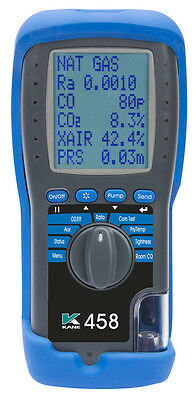 Kane 458 New Style Flue Gas Analyser- Currently 1 Week Lead Time For Delivery