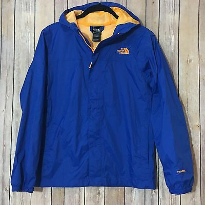 The North Face Hyvent Youth Boys Zipline L (14/16) Hooded Rain Jacket Blue