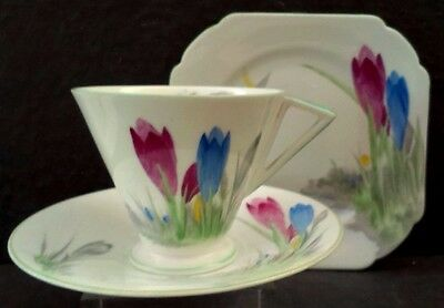 "Shelley Eve"" Crocus"" Tea Trio"