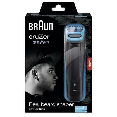 Braun Cruzer Mens Cordless 6 length Washable Hair & Beard Trimmer Clipper *New*