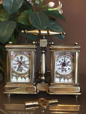Antique Of Victorian Time French Mechanical Move Mantle Clock With Barometer