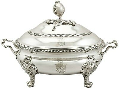 Antique George II Sterling Silver Soup Tureen Lewis Herne & Francis Butty 1758