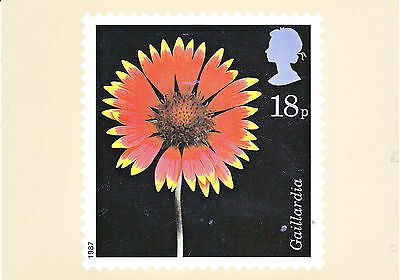 First day issue  Flowers (Gaillardia) on postcard of the stamp 20 January 1987